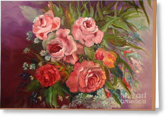 Parade Of Roses Greeting Card