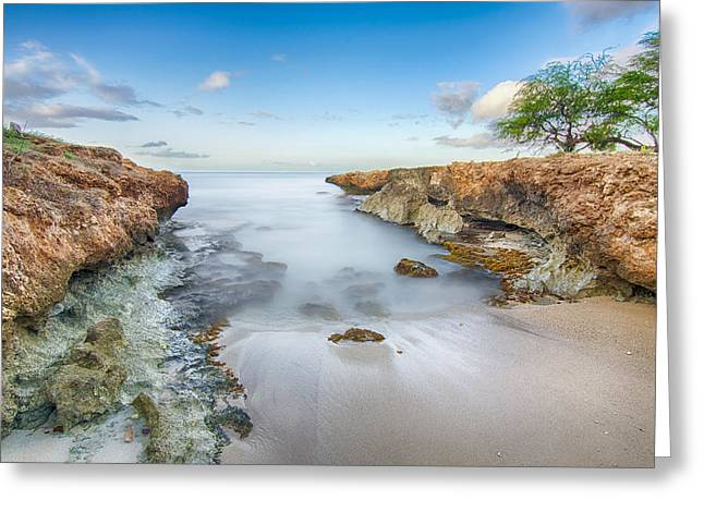 Paradise Beach Greeting Card by Tin Lung Chao