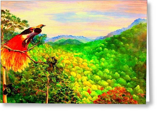 Paradise Bird Of Papua Greeting Card by Jason Sentuf
