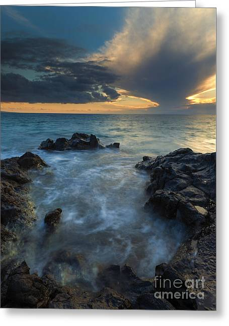 Paradise Cloud Explosion Greeting Card by Mike Dawson