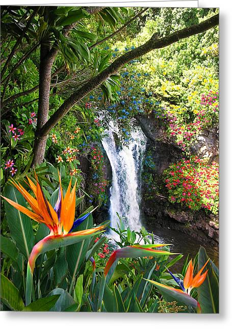 Paradise Falls Greeting Card by Doug Kreuger