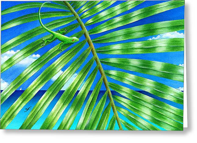 Paradise Frond Greeting Card by Carolyn Steele