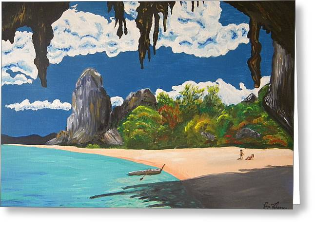 Paradise In Thailand Greeting Card by Eric Johansen