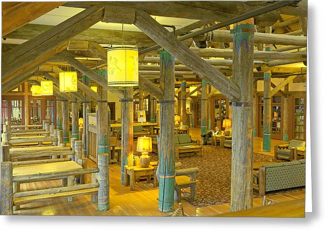 Paradise Inn Lobby Greeting Card