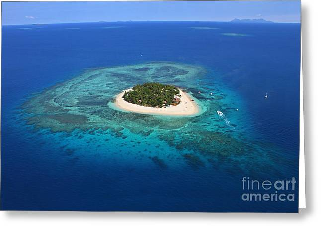 Paradise Island In South Sea I Greeting Card by Lars Ruecker