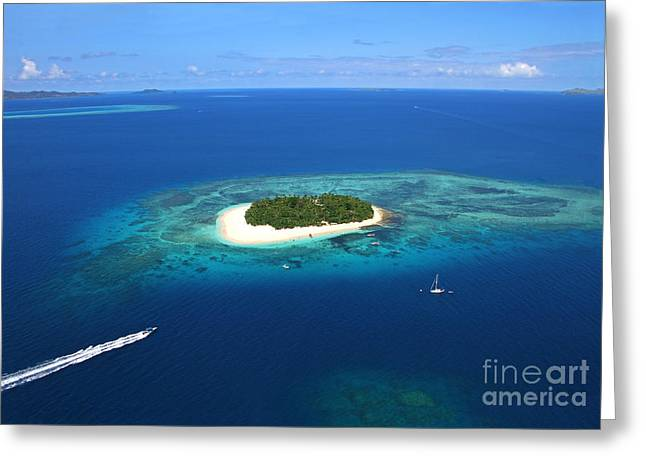 Paradise Island In South Sea II Greeting Card by Lars Ruecker