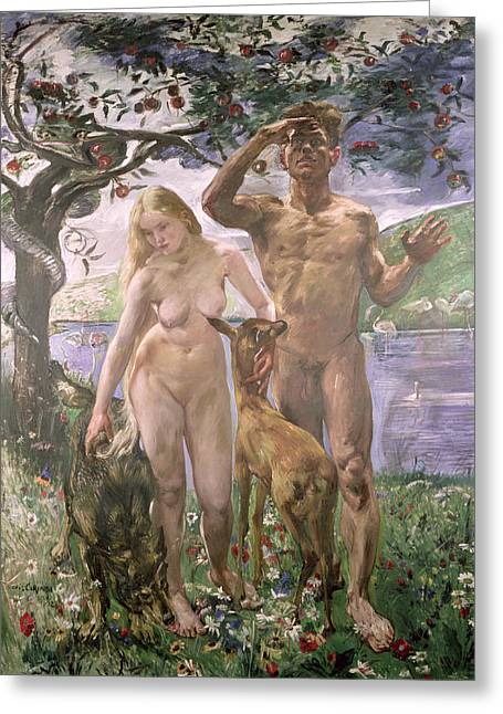 Paradise Greeting Card by Lovis Corinth