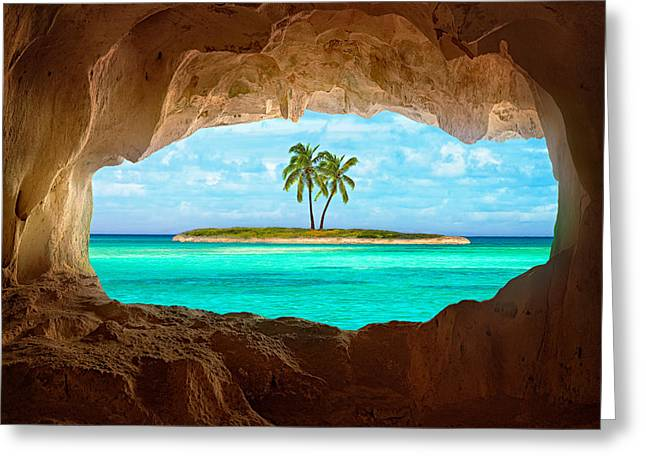 Paradise Greeting Card by Matt Anderson