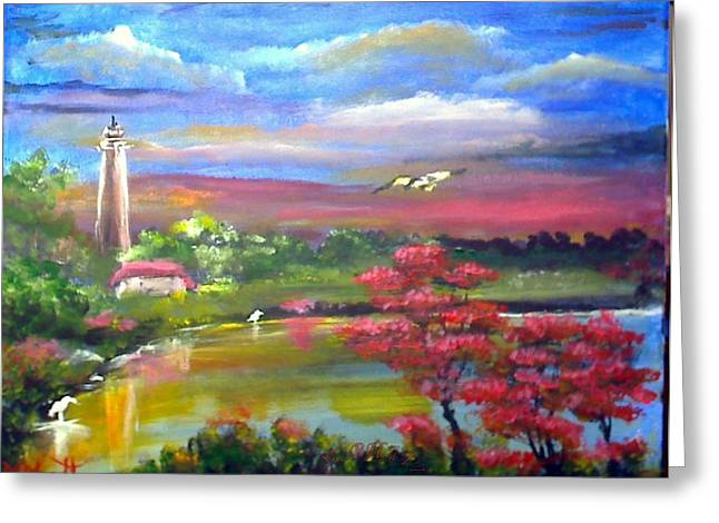 Paradise Nature Greeting Card by M Bhatt