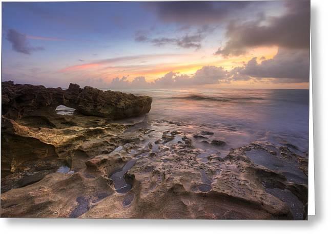 Paradise On Jupiter Greeting Card by Debra and Dave Vanderlaan