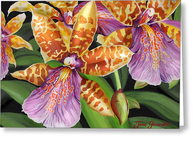 Greeting Card featuring the painting Paradise Orchid by Jane Girardot
