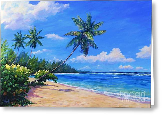 Paradise Palms Greeting Card by John Clark