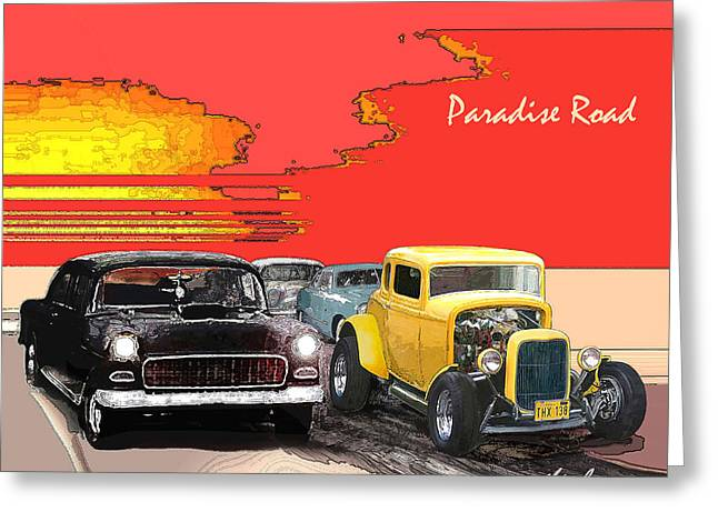 Paradise Road Greeting Card by Barry Cleveland