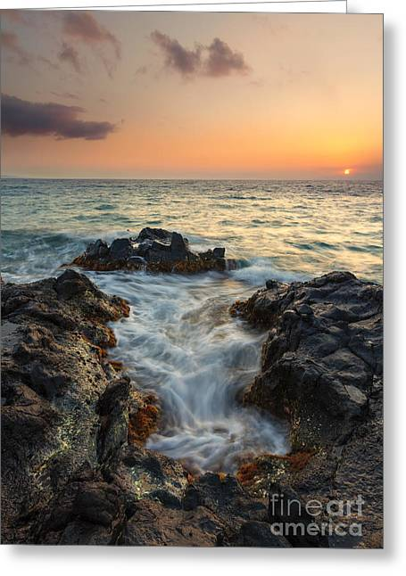 Paradise Split Greeting Card by Mike Dawson