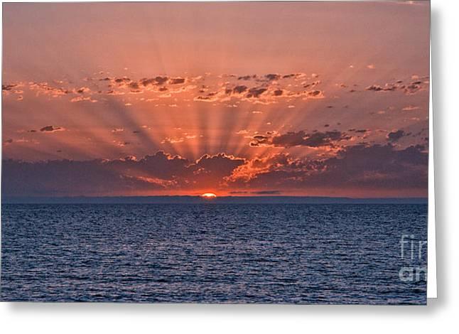 Paradise Sunset Greeting Card by Alberto Agrusa