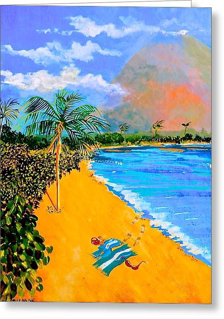 Paradise Greeting Card by Susan Robinson