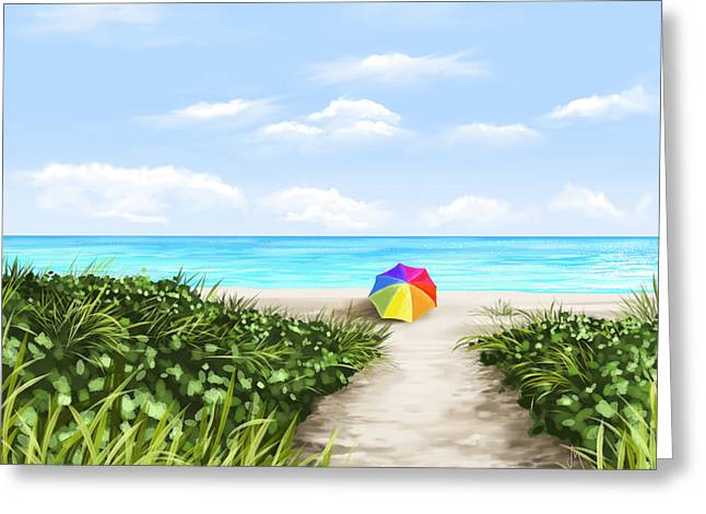 Paradise Greeting Card by Veronica Minozzi
