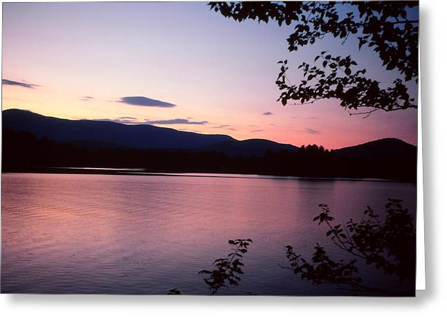 Paradox Lake Sunset Iv Greeting Card