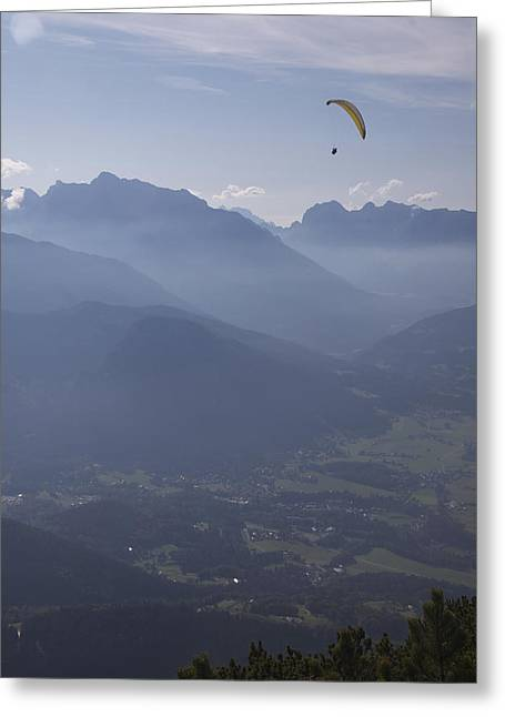 Paraglider's View Greeting Card