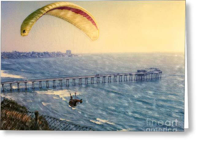 Paragliding Torrey Pines Greeting Card