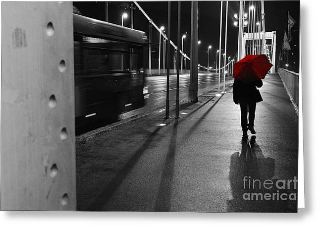 Greeting Card featuring the photograph Parallel Speed by Simona Ghidini