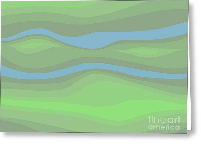Parallel Streams Topo Greeting Card by Henry Manning