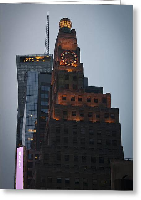 Paramount Building Times Square Greeting Card by Teresa Mucha
