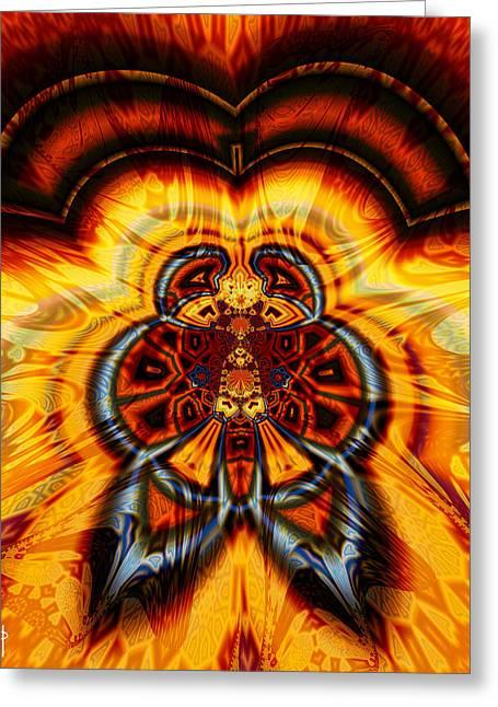Parasailing Aztec Greeting Card