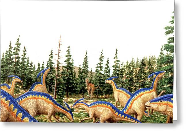 Parasaurolophus Dinosaurs Greeting Card