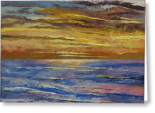 Parfait Sunset Greeting Card by Michael Creese