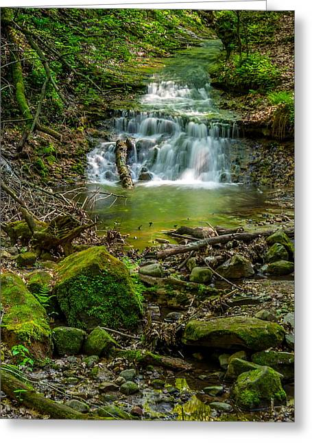 Parfrey's Glen Waterfall Greeting Card