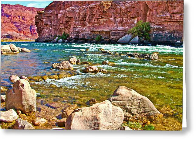 Pariah Riffle Near Lee's Ferry In Glen Canyon National Recreation Area-arizona Greeting Card by Ruth Hager