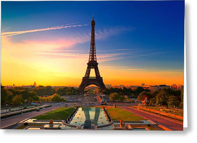 Paris 17 Greeting Card by Tom Uhlenberg