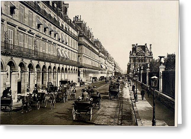 Paris 1900 Rue De Rivoli Greeting Card