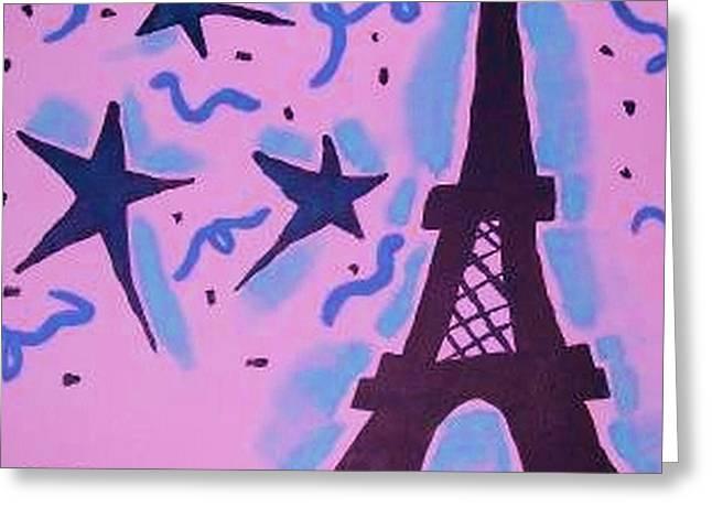 Paris Alive Greeting Card by Krystyn Lyon