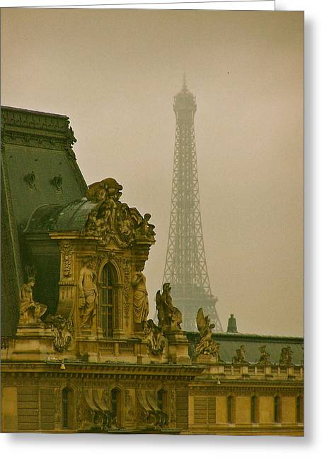 Paris Architecture Greeting Card by Betsy Moran