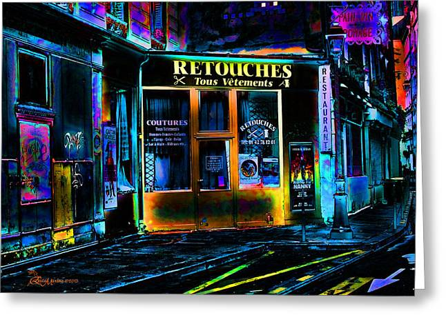 Paris At Night Greeting Card by EricaMaxine  Price