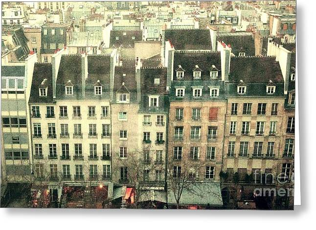 Paris Beaubourg Greeting Card by Louise Fahy