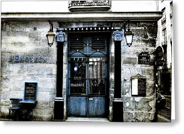 Paris Blues Greeting Card by Evie Carrier