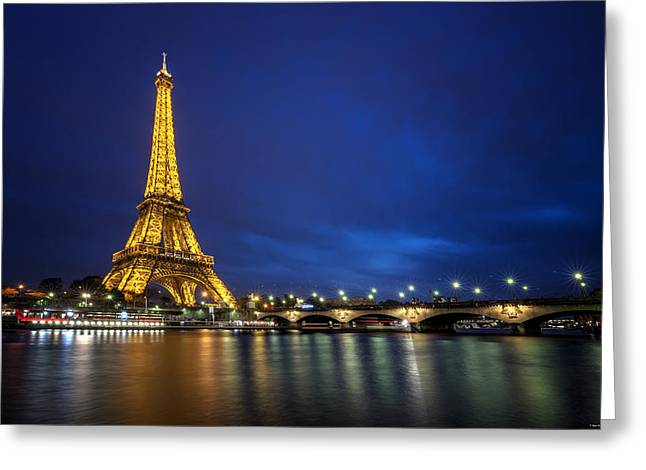 Paris Blues Greeting Card