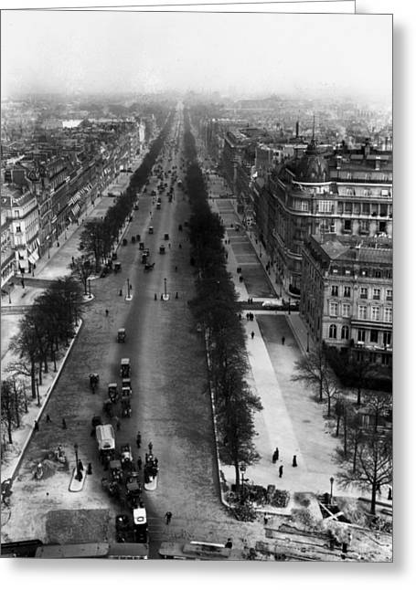 Paris Champs-�lys�es, C1900 Greeting Card by Granger