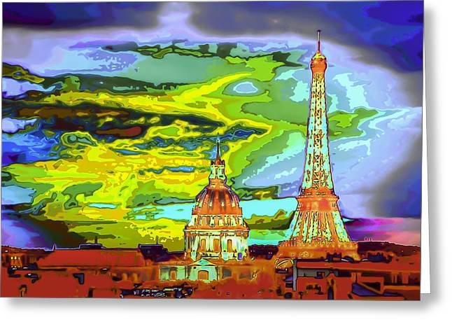 Paris - City Of Lights Greeting Card