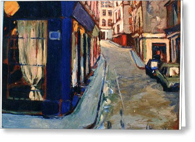 Greeting Card featuring the painting Paris Cityscape by Walter Casaravilla
