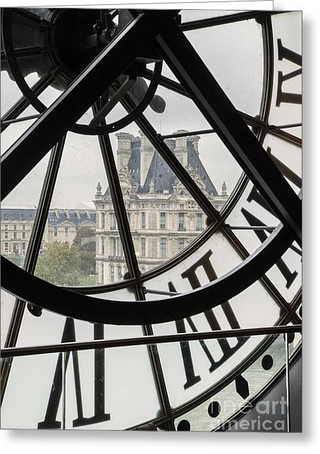 Paris Clock Greeting Card