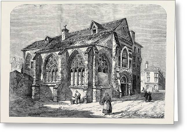 Paris Demolitions Ancient Church Of St Greeting Card by English School