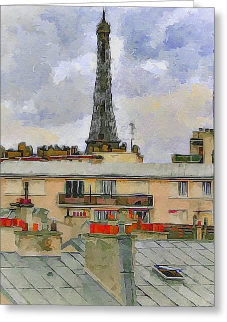 Paris Eiffel Tower 1 Greeting Card