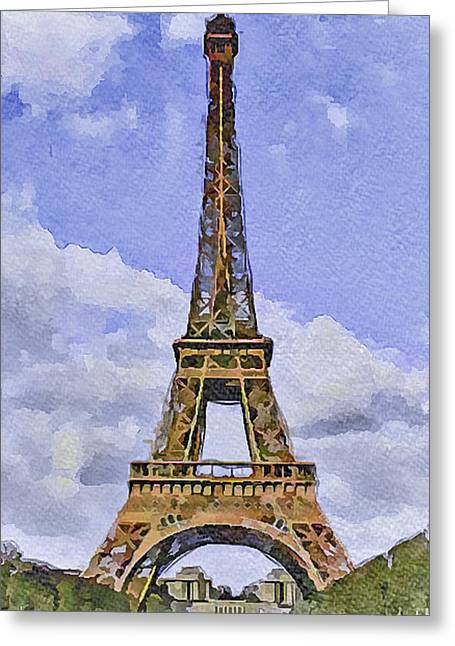 Paris Eiffel Tower 2 Greeting Card by Yury Malkov