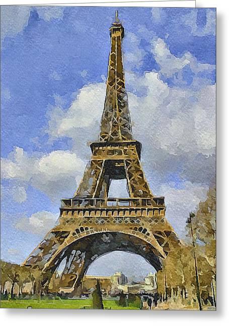 Paris Eiffel Tower 3 Greeting Card