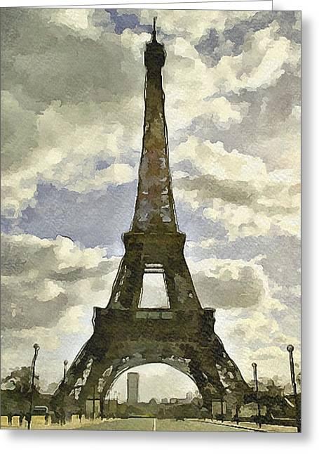 Paris Eiffel Tower 4 Greeting Card