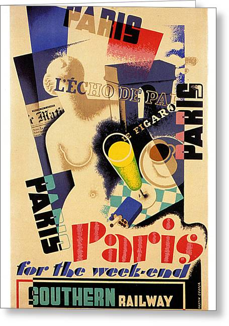 Paris For The Weekend Greeting Card by Georgia Fowler